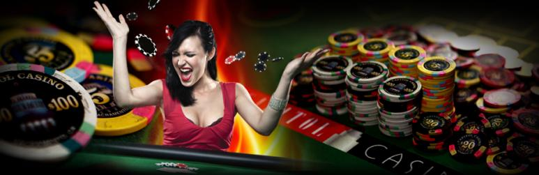 casino chips and player